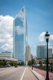 Charlotte da parte alta da cidade, Carolina Cityscape norte Fotografia de Stock Royalty Free