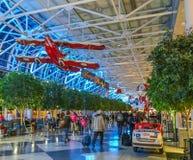 Charlotte Douglass North Carolina Airport Terminal Imágenes de archivo libres de regalías