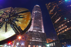 Charlotte downtown at night Stock Photography