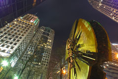Charlotte downtown at night. During winter months royalty free stock photography