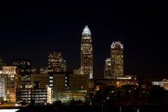 Charlotte en la noche Fotografía de archivo libre de regalías