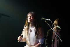 Charlotte Gainsbourg performs at Barcelona Stock Photo