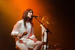 Charlotte Gainsbourg performs at Razzmatazz Royalty Free Stock Image