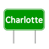 Charlotte green road sign Royalty Free Stock Photography