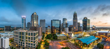 Charlotte, het Noorden Carolina Cityscape stock foto's