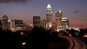 Charlotte, horizonte del NC Fotos de archivo