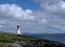 charlotte islay lighthouse port scotland 免版税图库摄影