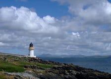 charlotte islay lighthouse port scotland 免版税图库摄影