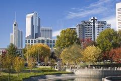 Charlotte, la Caroline du Nord Photo libre de droits