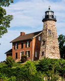Charlotte Light House. Stone Light house in Charlotte NY Stock Image