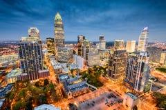Charlotte linia horyzontu Zdjęcie Stock