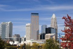 Charlotte, NC. One Wachovia Center and Bank of America Towers in Charlotte, North Carolina Stock Images