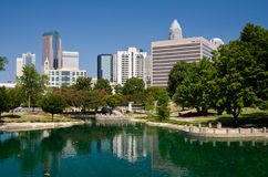 Charlotte, NC. Charlotte North Carolina at Marshall Park in the Summer royalty free stock image