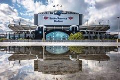 Charlotte, nc - 12 April, 2016 - panters nfl stadion Royalty-vrije Stock Foto