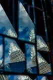 Charlotte nc horisont- och gataplatser under dagtid Arkivbilder