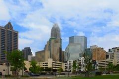 Charlotte nc linia horyzontu Fotografia Royalty Free