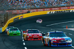 CHARLOTTE, NC - MAY 27: Kyle Busch in the lead Royalty Free Stock Images