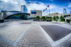 Charlotte, NC - October,  11, 2014 nascar hall of fame plaza in t Royalty Free Stock Images