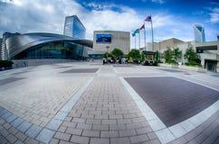 Charlotte NC - Oktober, 11, nascar korridor 2014 av berömmelseplaza i t Royaltyfria Bilder