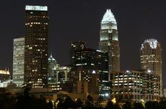 Charlotte, NC Skyline. At night Royalty Free Stock Image