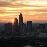 Charlotte, NC Skyline. Royalty Free Stock Photo