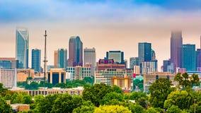 Charlotte, NC-Skyline lizenzfreies stockbild
