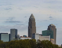 Charlotte NC skyline Royalty Free Stock Images