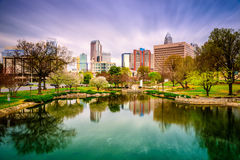 Charlotte NC Skyline Royalty Free Stock Photos