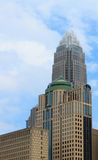 Charlotte NC Skyline on Right Royalty Free Stock Photography