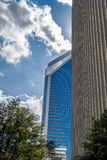 Charlotte nc skyline and street scenes during day time Stock Photo