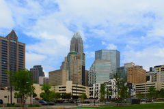 Charlotte NC Skyline. From view of Bearden Park Royalty Free Stock Photography