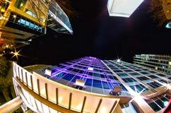 Charlotte, nc, USA - Nachtleben um charlot Stockfotos