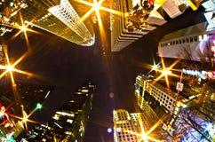 Charlotte, nc, USA - Nachtleben um Charlotte Stockbilder