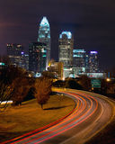 Charlotte, NC. View on Uptown Charlotte, NC at night Royalty Free Stock Image