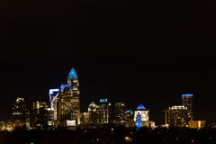 Charlotte at night stock photography