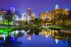 Charlotte, Nord-Carolina Park Cityscape Stockfotos