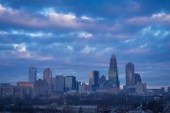 Charlotte, Nord-Carolina Sunrise 2 lizenzfreies stockbild