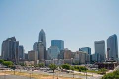 Charlotte north carolina. Skyline of Uptown Charlotte, North Carolina Royalty Free Stock Image