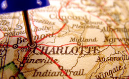 Charlotte, North Carolina. The way we looked at it in 1949 Royalty Free Stock Photo
