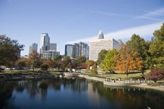 Charlotte, North Carolina. Marshall Park in the Fall Stock Images