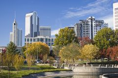 Charlotte, North Carolina. In Autumn royalty free stock photo