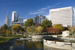 Charlotte, North Carolina. Uptown Charlotte, North Carolina in Autumn Stock Images