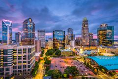 Charlotte, North Carolina. USA skyline stock photos