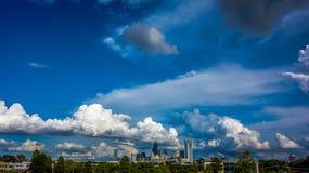 Charlotte north carolina city skyline Stock Images