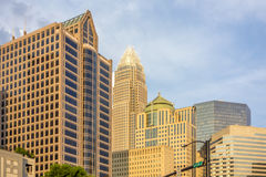 Charlotte north carolina city skyline from bbt ballpark Stock Photos