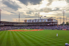 Charlotte north carolina city skyline from bbt ballpark Stock Image
