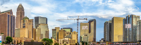 Charlotte north carolina city skyline from bbt ballpark Stock Photography