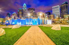 charlotte north carolina city skyline and downtown stock images