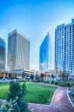 Charlotte north carolina city skyline and downtown Stock Photography