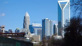 Charlotte north carolina city skyline and downtown stock video
